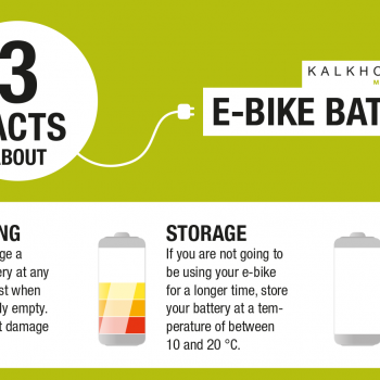 How to look after your Kalkhoff electric bike battery.