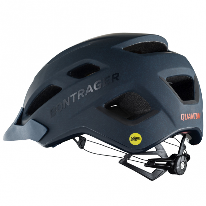 Quantum navy cycle helmet with multi-directional impact protection system (MIPS)