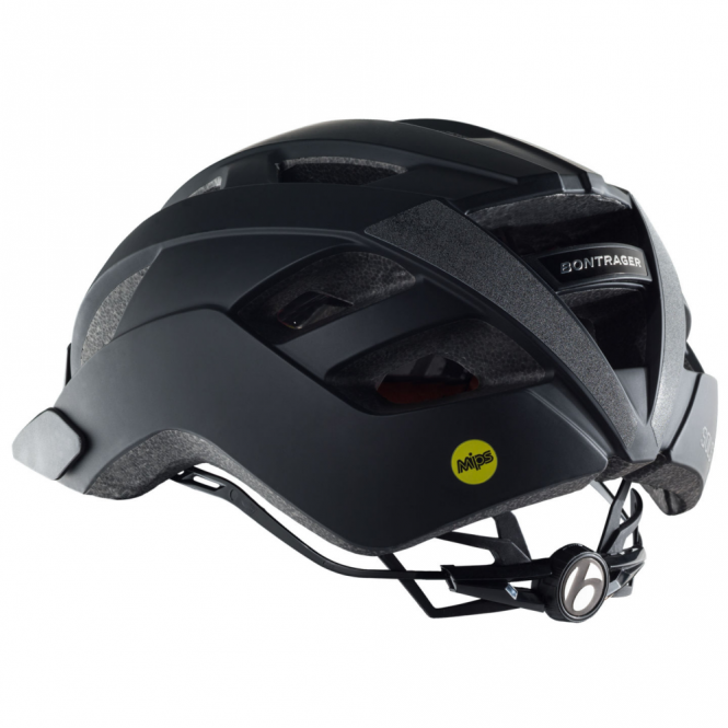 Solstice black cycle helmet with multi-directional impact protection system (MIPS)