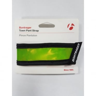 Yellow high visibility, reflective safety trouser clip for cycling