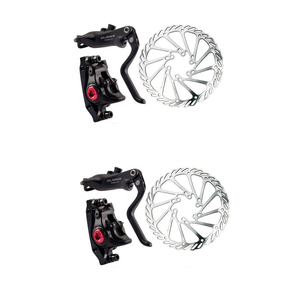 Autocomplacencia Arrugas Descolorar  Clarks M3 Hydraulic Disc Brake Set, 180mm Front And 160mm Rear, Pm And Is  Compatible. - Cycle Accessories from The eBike Store UK