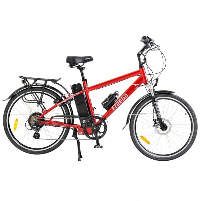 Hawk crossbar electric bike - Red