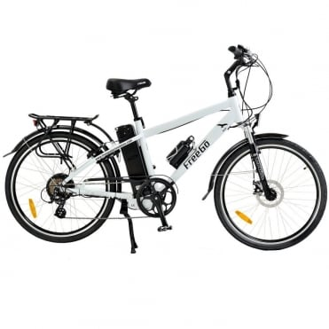 Hawk crossbar electric bike - White