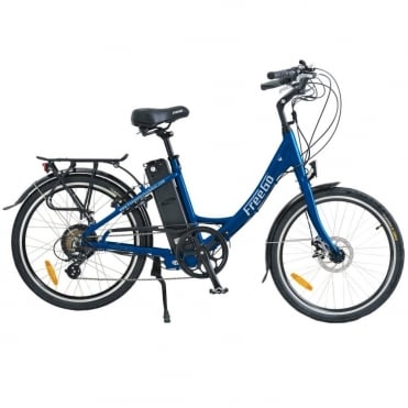 Hawk step through electric bike - Blue