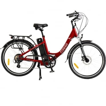 Hawk step through electric bike - Red