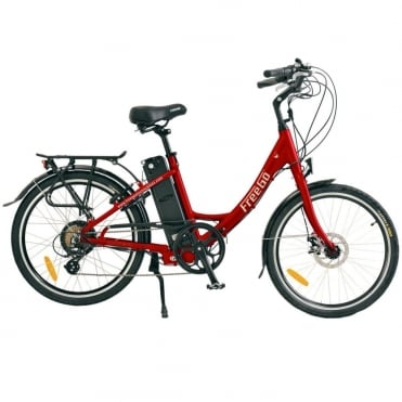 Wren small step-through electric bike - Red