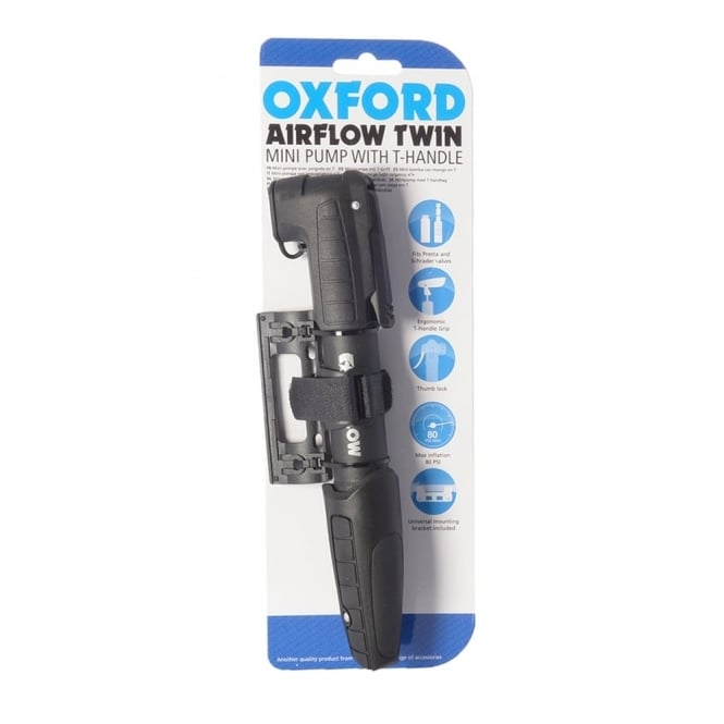 Airflow twin resin miniature cycle pump for Schrader and Presta valves