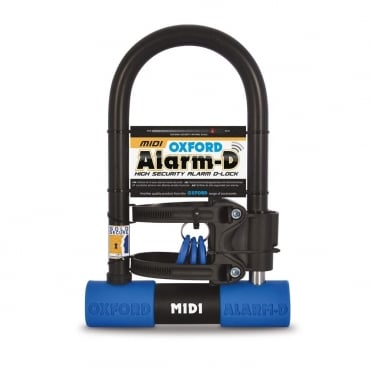 Alarm-D midi high security bike lock with alarm Sold Secure silver level security