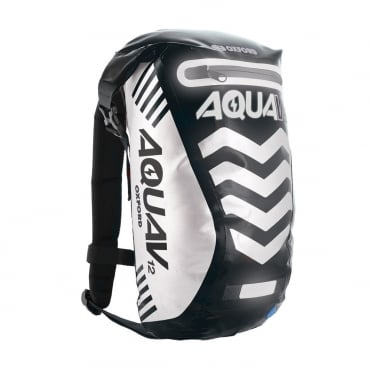 Aqua V12 extreme visibility waterproof black cycle backpack