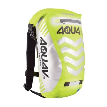 Aqua V12 extreme visibility waterproof yellow cycle backpack