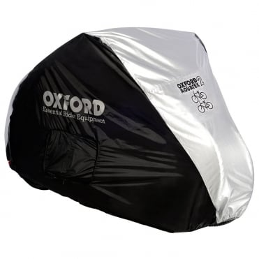 Aquatex double bicycle cover - silver (200cm x 75cm x 110cm)