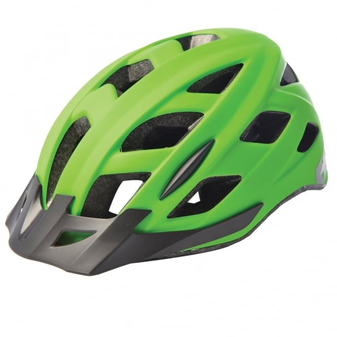 Metro-V Cycling Helmet with integrated LED rear light - matt green