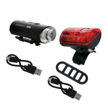Ultratorch Mini+ USB rechargeable front and rear cycle light set