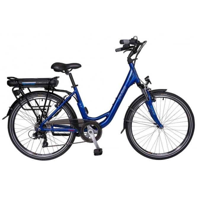 pulse zl2 electric bike with step through frame and tranzx rear hub motor - Ebike Frame