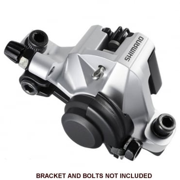 Front/Rear mechanical disc brake caliper and pads - Silver